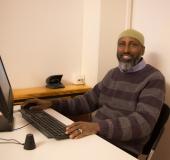 Said Isse Jama er lærer i datafag, og IT-ansvarlig på skolen.