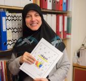 Samira Ismail Mosawi er lærer i arabiskfag.